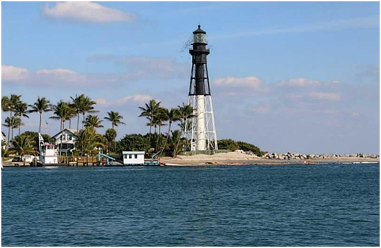 The beautiful Hillsboro Shores Inlet with the Lighthouse