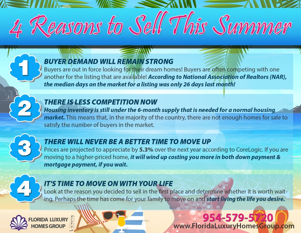 4 Big Reasons To Sell This Summer [Infographic]